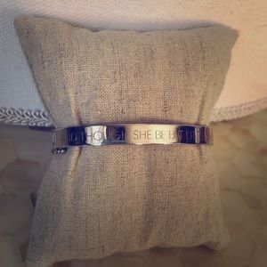 Stella & Dot Engraved Bangle Shakespeare quote